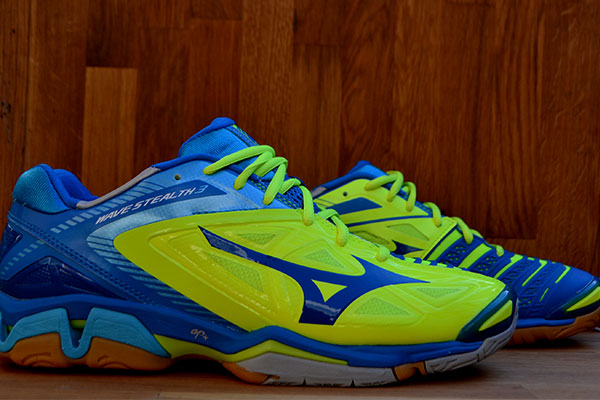 Mizuno wave Stealth 3 X1GA140045 - Neon Yellow / Diva blue - 1